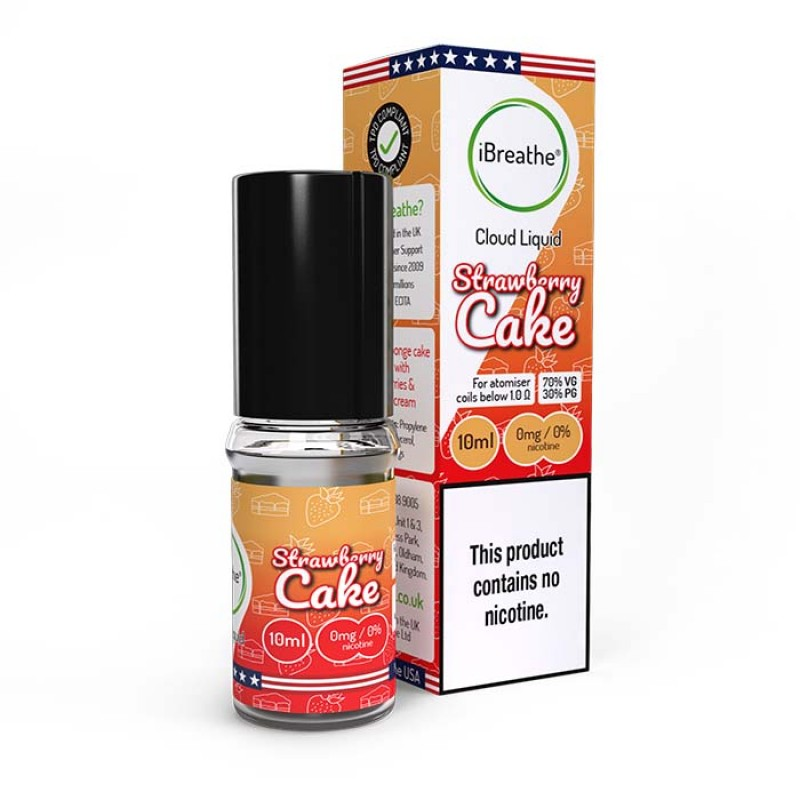 Strawberry Cake - 10ml High VG E-Liquid
