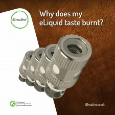 Why does my eLiquid taste burnt?