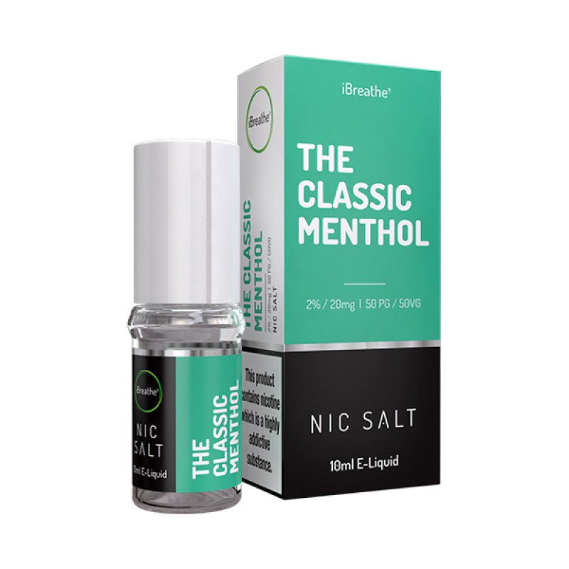The Classic Menthol - 20mg - 10ml Nic Salt E-Liquid