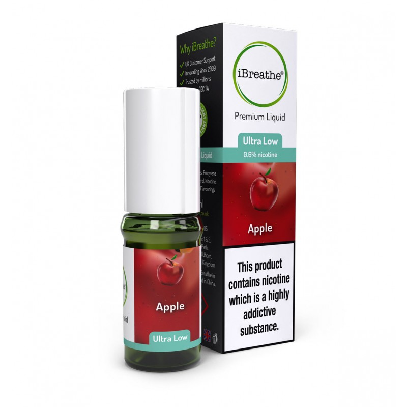 10ml High PG Premium E-Liquid - Apple Premium EJuice - £4.95 + Free UK Delivery