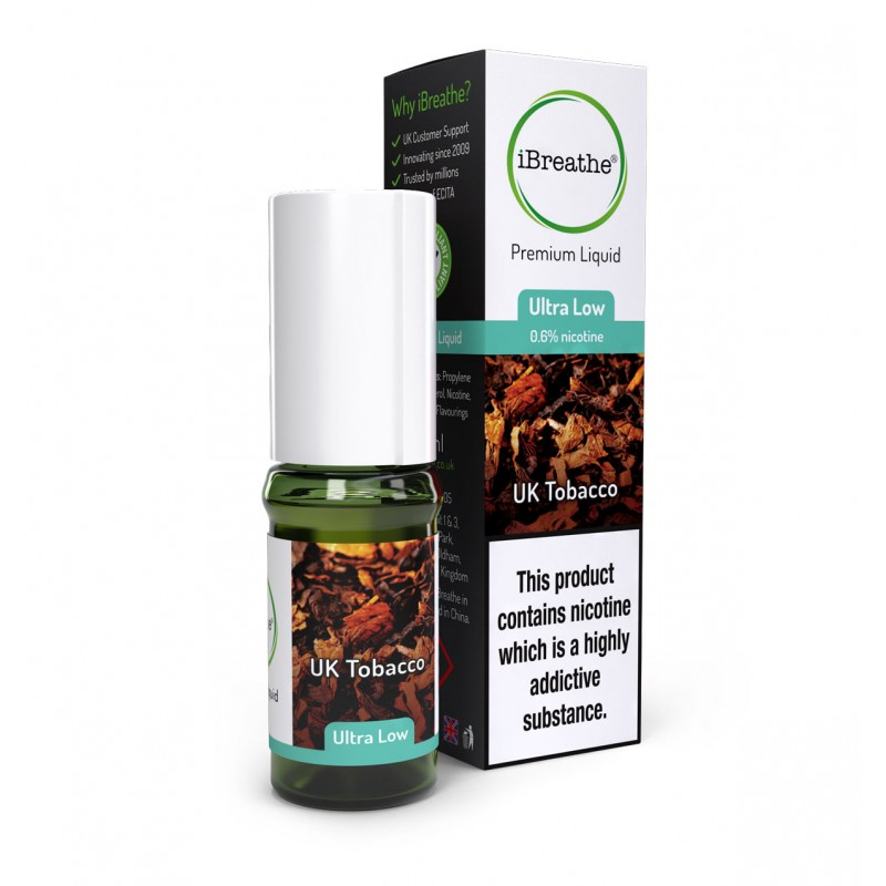 UK Tobacco - 10ml High PG E-Liquid