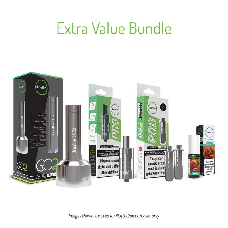 GO2 Hybrid E-Cigarette Battery Extra Bundle