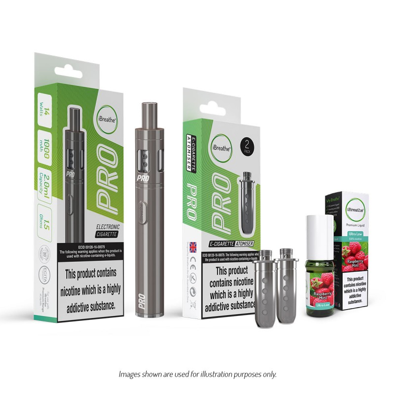Pro E-Cig Kit & Coils + E-Liquid Bundle | £29.99 + Free UK Delivery