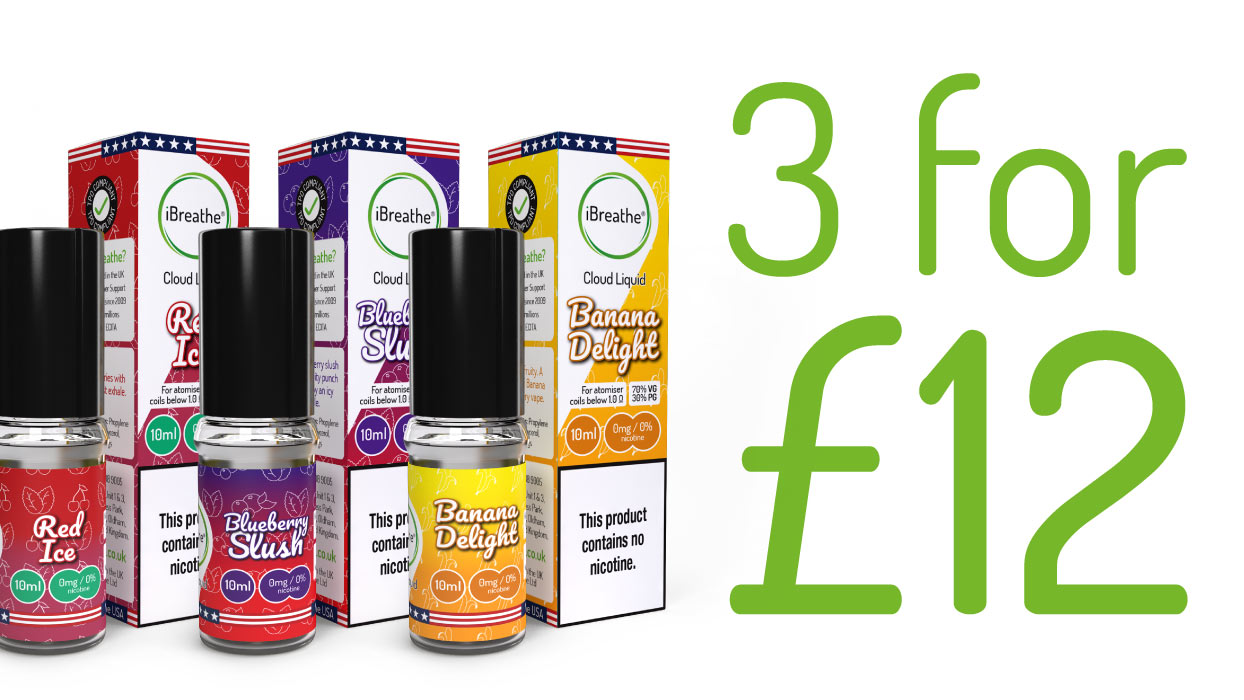 3 for £12   High PG Cloud E-Liquid + Free UK Delivery