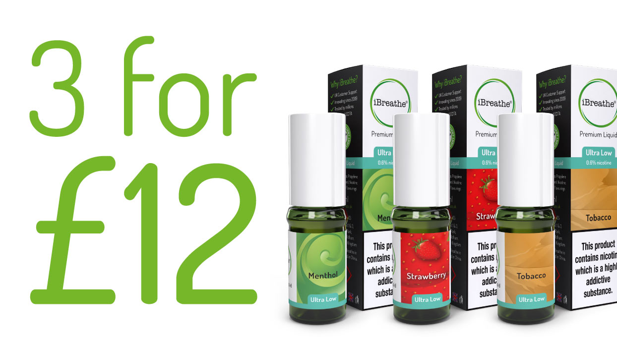 3 for £12 On All Cloud & Premium eLiquids